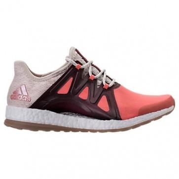 Femmes Adidas Pure Boost Xpose Corail facile / Lin / Bordeaux Chaussures de course BB1739