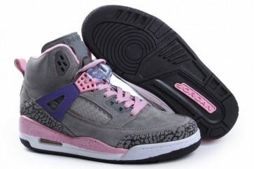 Air Jordan 3 Femme Chaussures Gris foncé, Rose, Pourpre