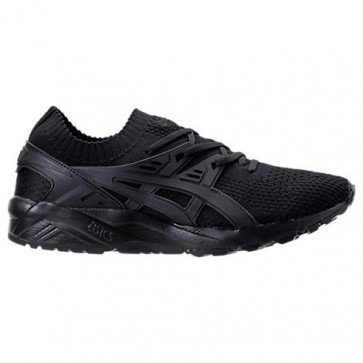 Noir Hommes Asics Gel-Kayano Trainer Knit Low Chaussure H705N 909