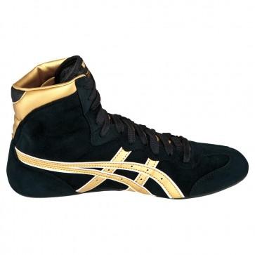 Femmes Asics Dave Schultz Classic Chaussures de lutte Noir / Doré / Blanc