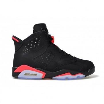Air Jordan 6 Retro Femmes / Hommes Noir / Infrared 23-Noir Chaussures 384664-023
