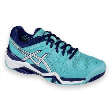 Asics Gel Resolution 6 Femme Chaussures de tennis Pool Bleu / Blanc / Indigo