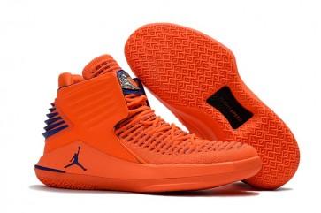 "Air Jordan 32 (XXXII) PE Hommes Chaussures de sport ""Media Day"" Orange / Bleu"