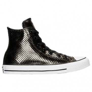 Noir / Noir / Blanc Converse Chuck Taylor High Top Femmes Chaussures de course 555966C 067
