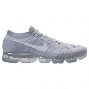 Chaussures de course Nike Air VaporMax Flyknit Hommes 849558 004 Platine pure, Blanc, Wolf Gris