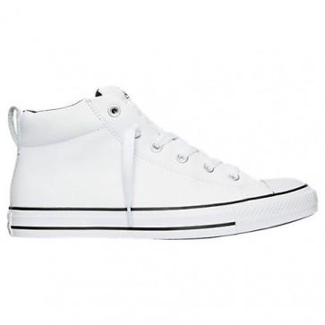 Converse Chuck Taylor All Star Street Mid Cuir Homme Chaussures Blanc, Noir 143726C