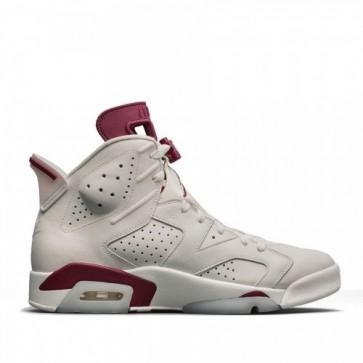 Femmes, Hommes Air Jordan 6 Retro Blanc / New Bordeaux Chaussures 384664-116