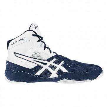 Asics Cael V6.0 Femmes Navy / Blanc Chaussures de lutte