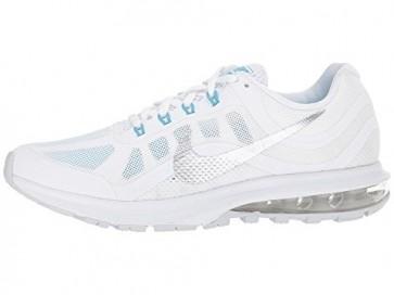 Nike Air Max Dynasty 2 Blanc / Chrome / Platine pure / Bleu Hommes, Femmes Chaussures