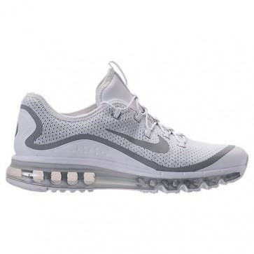 Chaussures de course Homme Nike Air Max More Blanc, Argent métallique, Noir 898013 100