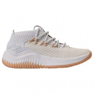 Adidas Dame 4 Hommes Blanc, Gomme Chaussure de basketball BY4496