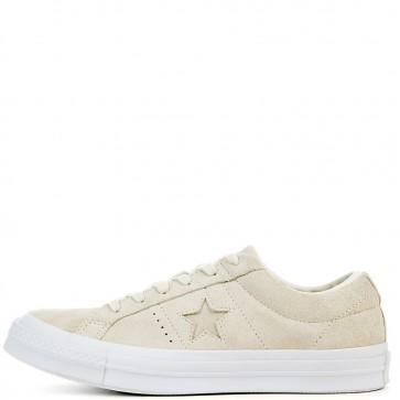 Egret / Egret / Blanc Converse Femme One Star Suede Ox Chaussures de course