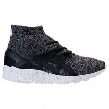 Homme Asics GEL-Kayano Trainer Knit Mid Noir / Blanc Chaussures de course HN7P1 090