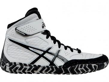 Homme Asics Aggressor 2 Chaussures de lutte 5RPS6 Blanc / Noir / Argent