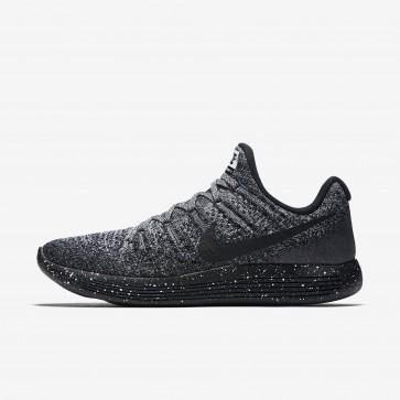 Chaussures de sport Nike LunarEpic Low Flyknit 2 Hommes Noir / Blanc / Racer Bleu 863779-041