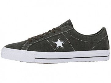 Séquoia / Séquoia / Blanc Converse Skate One Star Pro OX Hommes Chaussures