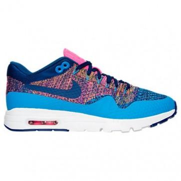 Femme Nike Air Max 1 Ultra Flyknit 843387 400 Bleu / Bleu Royal Profond Chaussures