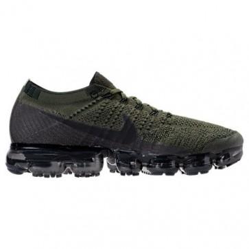 Nike Air VaporMax Flyknit Hommes Chaussures Cargo Kaki / Noir / Olive moyenne 849558 300