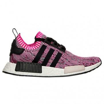 Adidas NMD R1 Primeknit Femmes Chaussures de sport Rose choc, Noir, Blanc BB2363