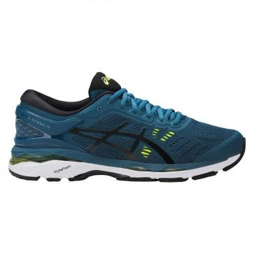 Hommes Chaussures de course Asics GEL-Kayano 24 Ink Bleu, Noir, Jaune