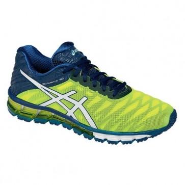 Hommes Asics Gel-quantum 180 Flash Jaune / Blanc / Ink Chaussures de sport