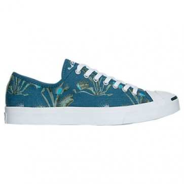 Converse Jack Purcell Low Top Woven Textile (Femmes, Hommes) Turquoise / Blanc Chaussures 155636C