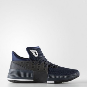 Homme Adidas Dame 3 Mystère Bleu, Core Noir, Blanc Chaussure de basketball BB8271