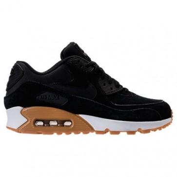 Noir / Gomme Brun moyen / Ivoire - Femme Nike Air Max 90 SE Chaussures de course 881105 003