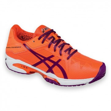 Chaussures de tennis Asics Gel Solution Speed 3 Femmes - Corail / Plum