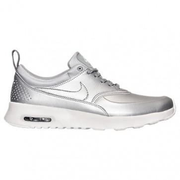 Femme Nike Air Max Thea SE Chaussures 861674 001 Argent métallique / Sommet blanc