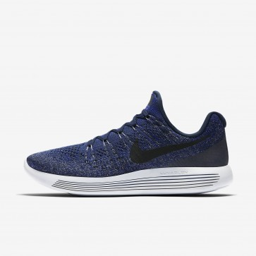 Nike LunarEpic Low Flyknit 2 Homme Chaussures Marine Collège / Concorde / Gris froid / Noir 863779-406