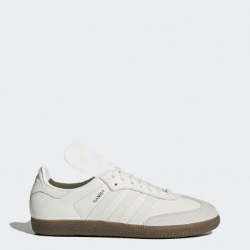 Adidas Originals Samba Classic OG Homme Chaussures Blanc Vintage, Réfléchissant, Gris perle