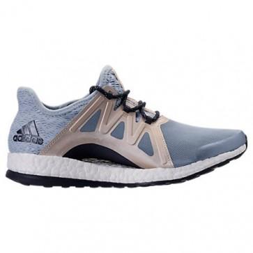 Femmes Adidas Pure Boost Xpose Bleu tactile / Corail facile Chaussures de course BB1740