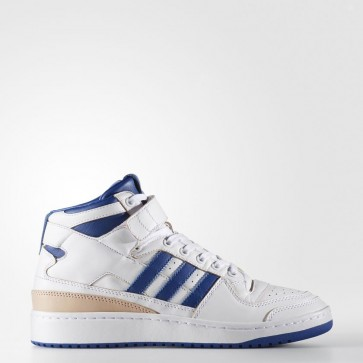 Running Blanc, Collégial Royal Adidas Originals Forum Mid Homme Chaussures