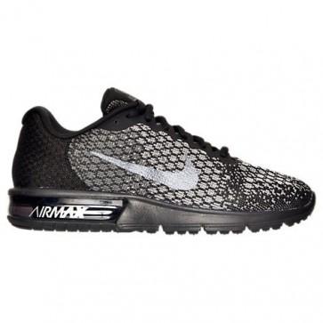 Femmes Nike Air Max Sequent 2 Chaussures Noir, Hématite métallique, Gris foncé 852465 010