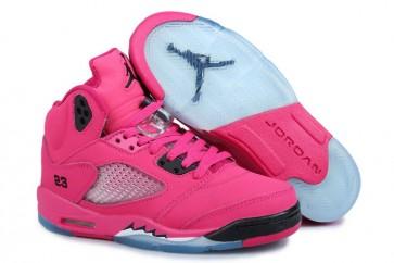 Nike Air Jordan 5 Femmes Retro Chaussures de course Rose et Noir