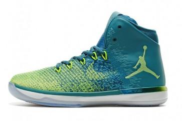 Nike Air Jordan 31 Homme Chaussure de basket Jade, Vert, Bleu