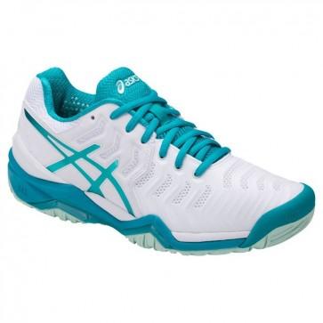 Femmes Chaussures de tennis - Asics Gel Resolution 7 Blanc / Arctic Aqua / Glacier