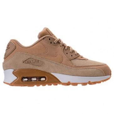Femme Chaussures Nike Air Max 90 SE 881105 200 Champignon, Sommet blanc, Gomme Marron clair
