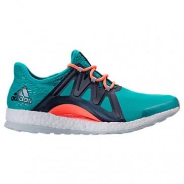 Adidas Pure Boost Xpose Femme Chaussures de course Bleu / Blanc / Lin vert BB1738