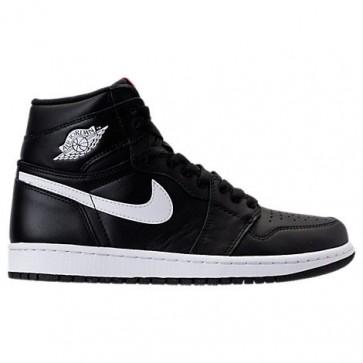 Noir / Blanc / Noir Hommes Air Jordan Retro 1 High Chaussure de basketball 555088 011