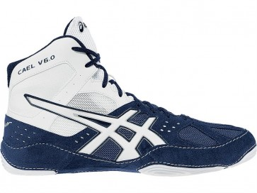 Asics Cael V6.0 - Hommes Chaussures de lutte 8GIA7 Navy / Blanc