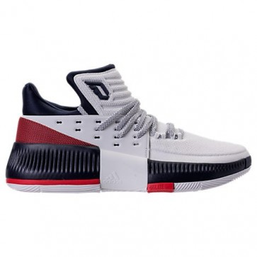 Homme Adidas Dame 3 Chaussure de basket Blanc, Navy, Cramoisi BY3762