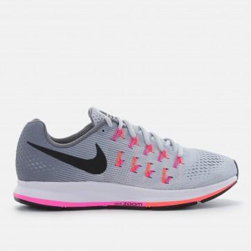 Femmes Nike Air Zoom Pegasus 33 Chaussures de course Gris / Rose / Noir