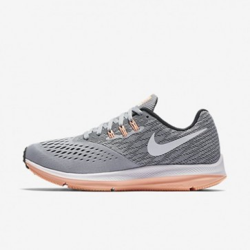 Chaussures de course Nike Zoom Winflo 4 Femmes Wolf Gris / Anthracite / Sunset Glow / Blanc 898485-003