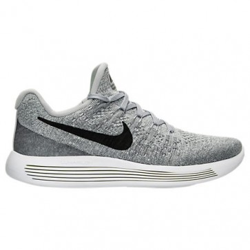 Nike LunarEpic Low Flyknit 2 Femme Chaussures Wolf Gris / Noir / Gris froid / Platine pure 863780 002