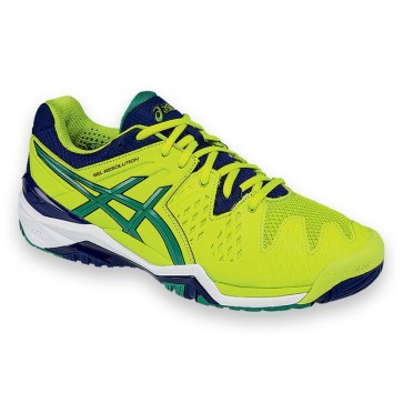 Chaussures de tennis Asics Gel Resolution 6 Hommes Lime, Pine Vert, Indigo