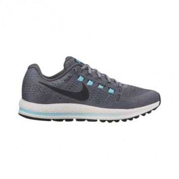 Nike Air Zoom Vomero 12 Femmes Chaussures Gris froid / Noir / Gris foncé / Glacier Bleu 863766-004