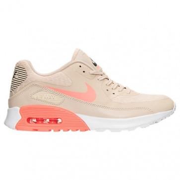 Femme Chaussures de course - Nike Air Max 90 Ultra 2.0 Gruau / Lava Glow / Blanc / Gris foncé 881106N 100