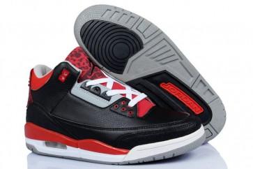 Air Jordan 3 Homme Chaussures de course Noir, Orange, Rouge